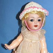 "Adorable 8 1/2"" Antique K*R / Simon Halbig Character Toddler Doll #126"
