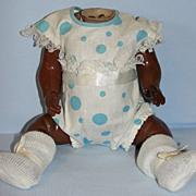 German Antique Black Baby Body with Original Costume