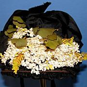 Lovely  Antique Victorian Bonnet suitable for large Bisque Doll
