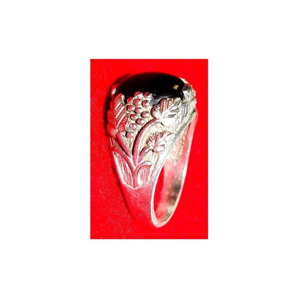 Black Hills 12k Gold & Sterling Silver Onyx Ring