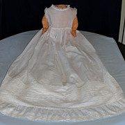 Outstanding Victorian Baby's Christening gown suitable for a large doll