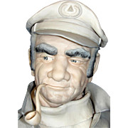 "Impressive Edward J. Rohn Porcelain Sculpture Entitled ""Captain""."