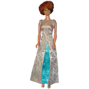 1962 Titian Bubble Cut Barbie in Fab Evening Gala Costume!