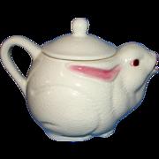 Rare Vintage Fitz & Floyd White Rabbit Teapot