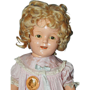 "17"" Ideal Shirley Temple Composition Doll"