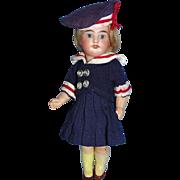Antique Cabinet Size German Bisque Doll