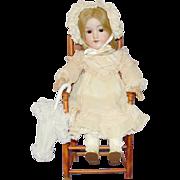 "Pretty Antique German Bisque Doll - 18"" AM 390n"