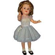 "Gorgeous All Original 17"" 1950's Vinyl Shirley Temple Doll with Tagged Dress"