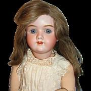 """Large Antique German Bisque Doll:  29"""" Heinrich Handwerck Mold #99"""