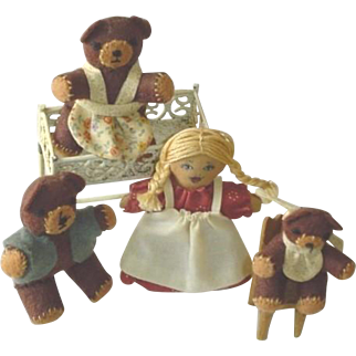 Vintage Hand Made Goldilocks and Three Bears