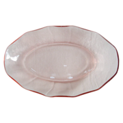 Vintage Pink Depression Glass Serving/Relish Dish