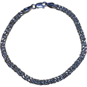 Sterling Silver Diamond Cut French Rope Bracelet Italy