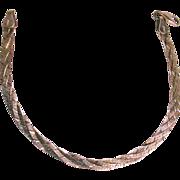 Sterling Silver Diamond Cut 4 Strand Bracelet Italy