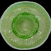 Green Jefferson Glass Opalescent Dish Tokyo Pattern