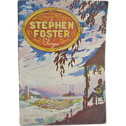 1940 Stephen Foster Music Song Book Treasure Chest Pub.