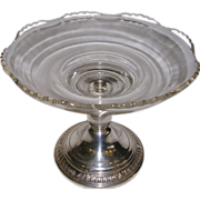 Sterling Silver and Crystal Candy Dish Frank M.Whiting New Martinsville