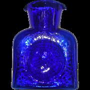 Blenko Art Glass Cobalt Blue Decanter Pitcher