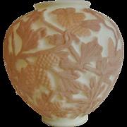 Consolidated Art Glass Martele' Pine Cone Pattern Custard Vase