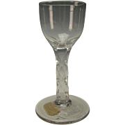 Great Antique 18c Anglo Irish Georgian Waterford Beveled Stem Cordial Wine Glass