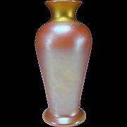 Antique Iridescent Quezal Signed Art Glass Vase Aurene