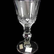 Antique c1800 Irish English Waterford Cut Stem Flint Wine Glass
