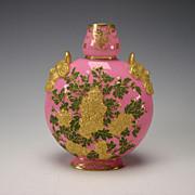 Antique Coalport England Porcelain Relief Vase c1885