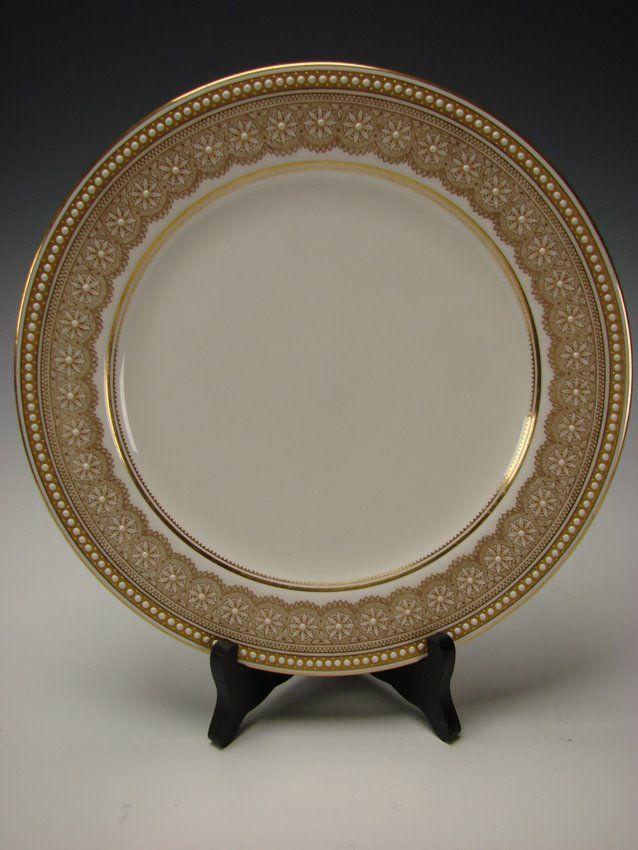 Antique Royal Worcester China Porcelain Jeweled Elegant Cabinet Plate W8652