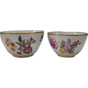 Antique Royal Copenhagen Pair of Stacking Danish Porcelain Frijsenborg China Bowls