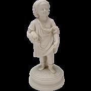 Antique Copeland English Parian Summer Figure Figurine
