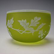 Antique Stourbridge Webb English Cameo Glass Bowl