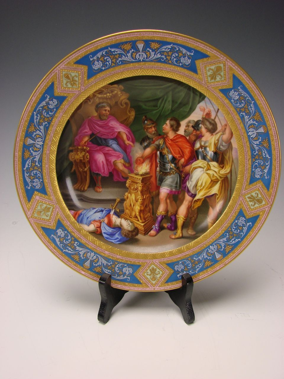 Antique Austrian Imperial Porcelain Royal Vienna Hand Painted Portrait Plate