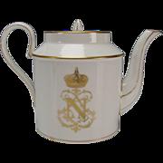 Antique 19c Sevres French Porcelain Napoleon III China Teapot c1848