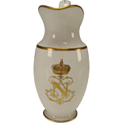 Unusual Antique Sevres Porcelain Napoleon III Tall Cream Milk Pitcher