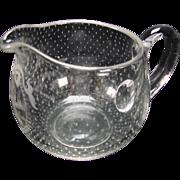 Antique Boston Sandwich Snowflake Glass Creamer
