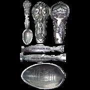 Figural Lewis & Clark 1905 Exposition Souvenir Spoon