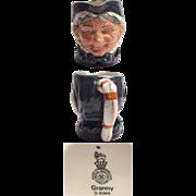 Royal Doulton Character Jug Granny Small Size D.6384