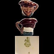 """Royal Doulton Small Size Character Jug Drake 3 1/4"""""""