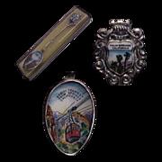 Enameled Palm Springs California Silverplate Souvenir Spoon