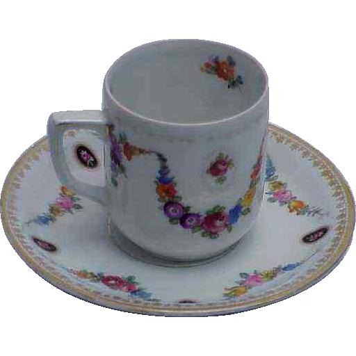 Bavaria Schumann Pretty Demitasse Cup & Saucer