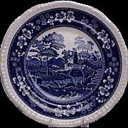 Spode Blue Tower Pattern Salad / Dessert Plate