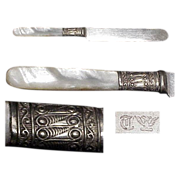 """1890's Mother Of Pearl  Handled 7"""" Youth/Tea Knife"""