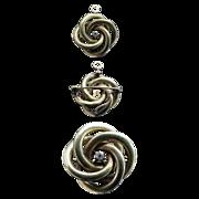 14K Gold Watch Holder Pin w/diamond