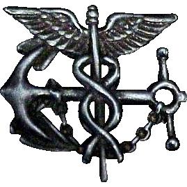 Sterling Silver Navy Medical Pin