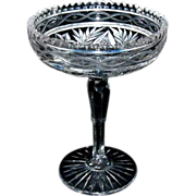 "American Brilliant Period Cut Glass Compote signed ""Clark"""