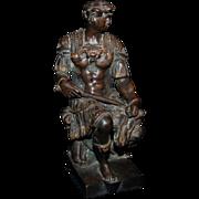 "Victorian Bronze Figure ""Greek Warrior"""