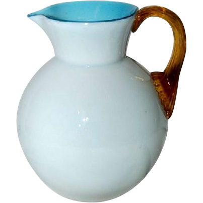 Victorian Cased Glass Pitcher