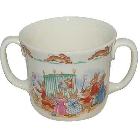 Scarce Royal Doulton (2) Two Handled Bunnykins Baby / Youth Mug