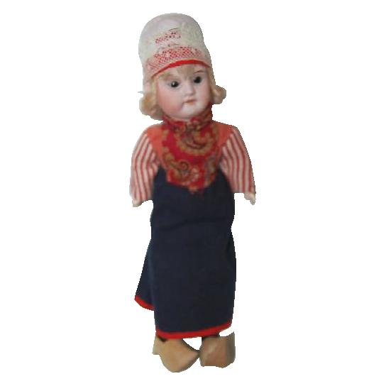 "1890's Bisque Dutch Girl Doll 11 1/2"" tall"