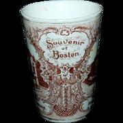 1890's Souvenir Porcelain Tumbler of Boston, Mass Views