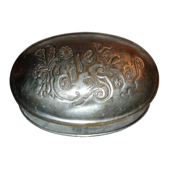 Art Nouveau Metal Soap Box